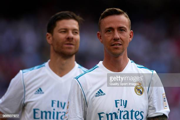 Jose Maria Gutierrez 'Guti' of Real Madrid looks on prior to the Corazon Classic match between Real Madrid Legends and Arsenal Legends at Estadio...