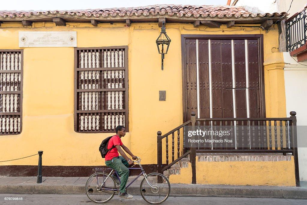 Jose Maria Heredia y Heredia natal house exterior details. : Nachrichtenfoto