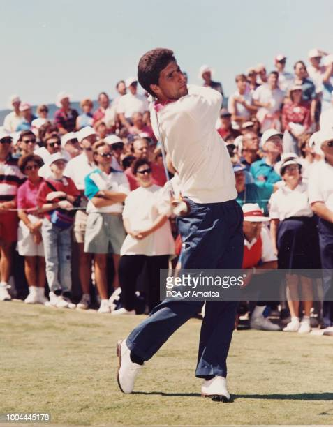 Jose Maria hits his shot in 1991 Ryder Cup