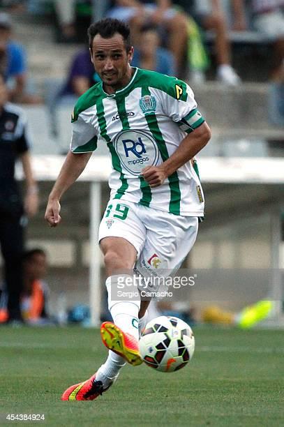 Jose Maria Lopez de Silva Sanchez of Cordoba CF controls the ball during the La liga match between Cordoba CF and RC Celta de Vigo at El Arcangel...