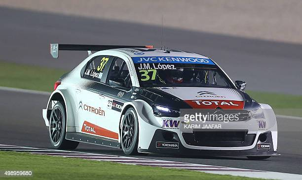 Jose Maria Lopez, the reigning World Touring Car Champion, drives in the first night race during the 2015 FIA World Touring Car Championship at the...