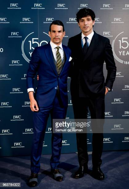 Jose Maria Manzanares and Andres Velencoso attend 'IWC Fuera de Serie' 150 Anniversary Party on May 30 2018 in Madrid Spain