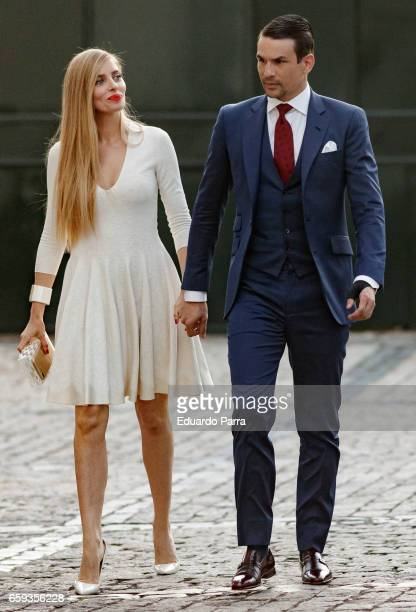 Jose Maria Manzanares and Rocio Escalona attend the 'Paul Ricard Bullfights Club' Awards 2017 at the Residence of the French ambassador on March 28...