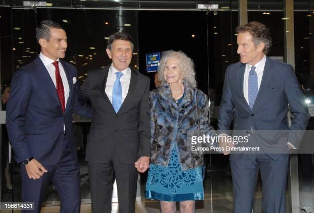 Jose Maria Manzanares Manuel Colonques Duchess of Alba Cayetana FitzJames Stuart and Duke of Alba Alfonso Diez attend the Porcelanosa new store...