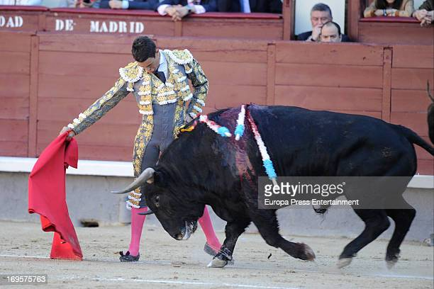 Jose Maria Manzanares performs at Las Ventas Bullring on May 24 2013 in Madrid Spain