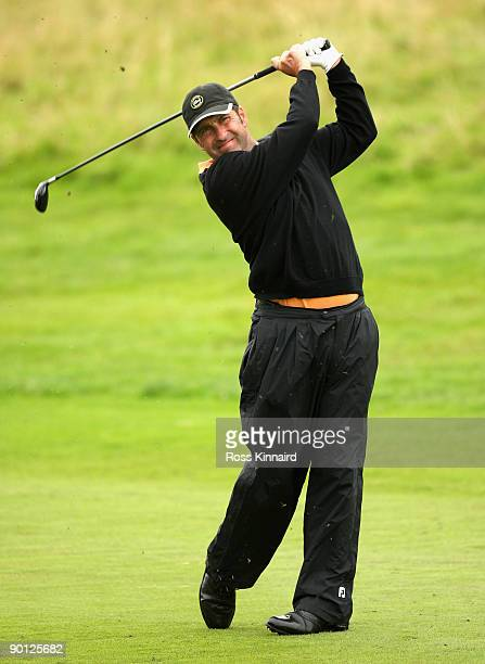 Jose Maria Olazabal of Spain during the second round of the Johnnie Walker Championship on the PGA Centenary Course at Gleneagles on August 28, 2009...