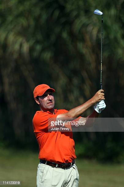 Jose Maria Olazabal of Spain in action during day one of the Iberdrola Open at Pula Golf Club on May 12 2011 in Mallorca Spain