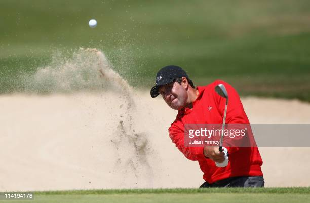 Jose Maria Olazabal of Spain plays out of the bunker on hole 9 during day four of the Iberdrola Open at Pula Golf Club on May 15 2011 in Mallorca...