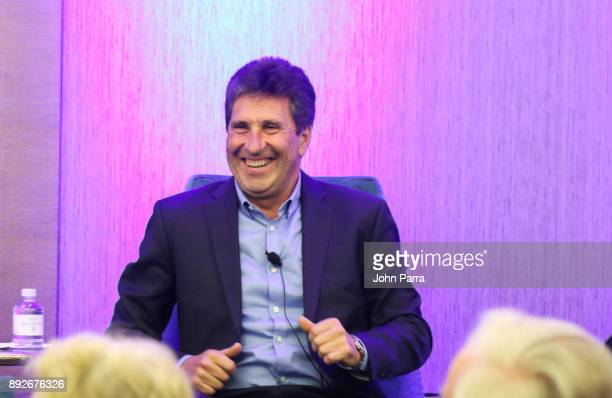 Jose Maria Olazbal speaks at A Conversation with Jose Maria Olazbal during the 121 Marina Invitational Day 1 at 121 Marina at Ocean Reef Club on...