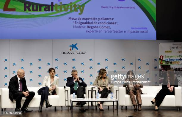 Jose Maria Torres Sandra Barneda Asis Martin de Cabiedes Begoña Gomez Charo Izquierdo and Leyre de Alvaro attend 'Ruraltivity' press conference at...