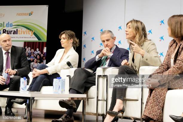 Jose Maria Torres Sandra Barneda Asis Martin de Cabiedes Begoña Gomez and Charo Izquierdo attend 'Ruraltivity' press conference at Caixa Forum on...
