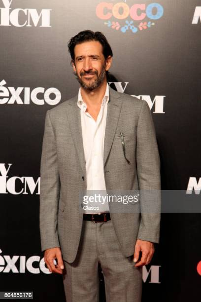 Jose Maria Yazpik poses during the red carpet of the new animated film by Pixar 'Coco' as part of the XV Morelia International Film Festival on...