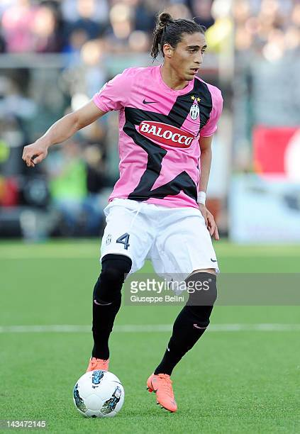 Jose Martin Caceres of Juventus in action during the Serie A match between AC Cesena and Juventus FC at Dino Manuzzi Stadium on April 25 2012 in...