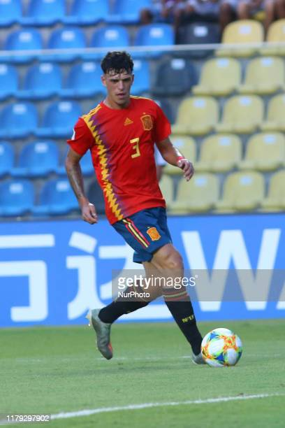 Jose Martinez of Spain in action during the FIFA U17 World Cup Brazil 2019 group E match between Spain and Tajikistan at Estadio Kleber Andrade on...