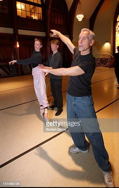 Jose Mateo Ballet Theatre dancers Jolanta ValeikaiteSuter and Florian Eckhardt rehearse with Jose Mateo in the group's rehearsal space at the Old...