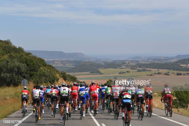 Jose Mendes of Portugal and Team Burgos BH / Laurens De Plus of Belgium and Team QuickStep Floors / Tosh Van Der Sande of Belgium and Team Lotto...