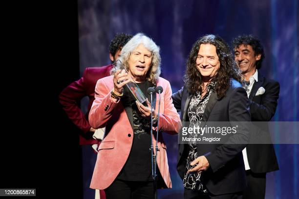 Jose Merce and Tomasito receives Best Flamenco Album Odeon Award at Royal Theater on January 20 2020 in Madrid Spain
