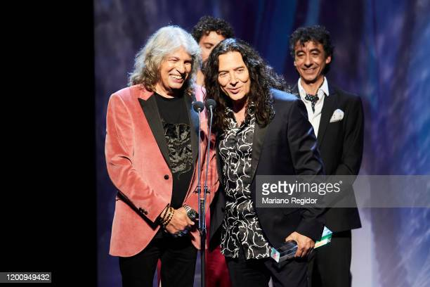 Jose Merce and Tomatito receive Best Flamenco Album Odeon Award at Royal Theater on January 20 2020 in Madrid Spain