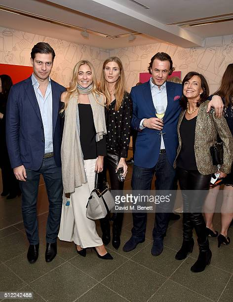 Jose Mestre Alina Kohlem guest guest and Frances Reynolds attend The Calder Prize 20052015 presented by Pace London And The Calder Foundation on...