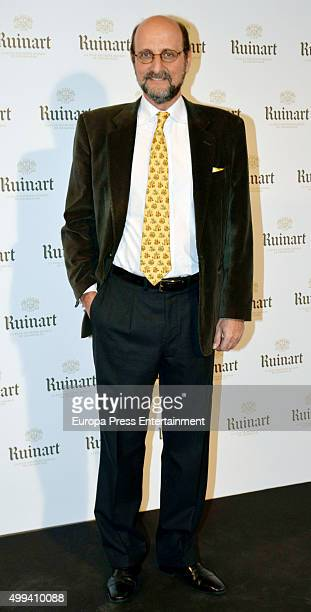 Jose Miguel Fernandez Sastron attends 'Dom Ruinart Rose 2002' party photocall on November 30 2015 in Madrid Spain