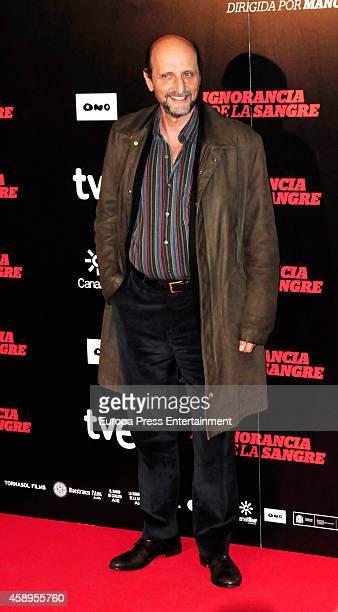 Jose Miguel Fernandez Sastron attends 'La Ignorancia de la Sangre' premiere on November 13 2014 in Madrid Spain