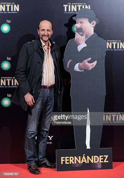 Jose Miguel Fernandez Sastron attends the premiere of 'Las Aventuras de TinTin El Secreto del Unicornio' at Callao Cinema on October 26 2011 in...