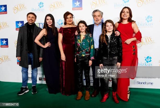 Jose Mota, Ana Fernandez, Eloisa Vargas, Carlos Iglesias and Ana Arias attends 'La suite nupcial' premiere at Kinepolis on January 09, 2020 in...