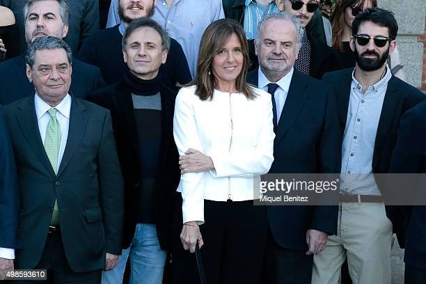 Jose Mota and Ana Blanco attend the reception to the Onda Awards 2015 winners press conference at the Palauet Albeniz on November 24 2015 in...