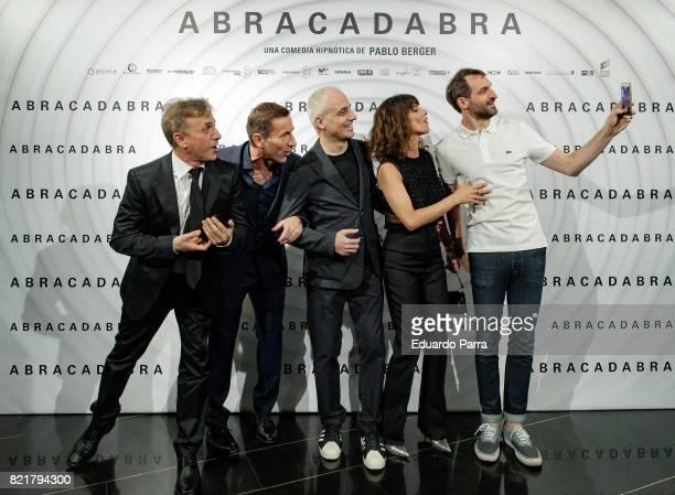 Jose Mota Antonio de la Torre Pablo Berger Maribel Verdu and Julian Villagran attend the 'Abracadabra' premiere at Palacio de la Prensa cinema on...