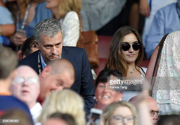Jose Mourinho and daughter Matilde attend Soccer Aid 2016 at Old Trafford on June 5 2016 in Manchester United Kingdom