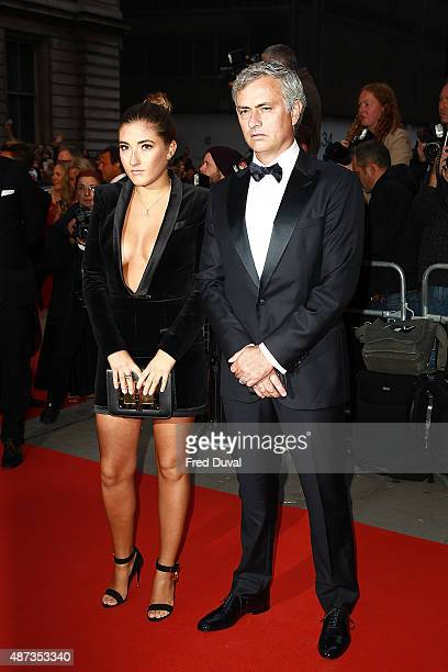 Jose Mourinho and daughter Matilde attend the GQ Men Of The Year Awards at The Royal Opera House on September 8 2015 in London England