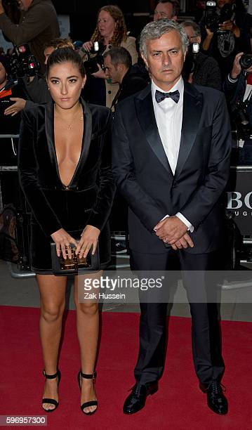 Jose Mourinho and daughter Matilde Mourinho arriving at the GQ Men of the Year Awards 2015 at the Royal Opera House in London