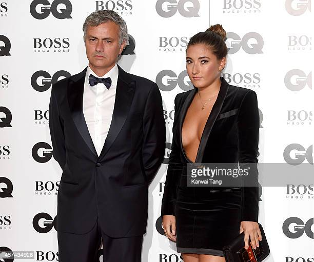 Jose Mourinho and daughter Matilde Mourinho attend the GQ Men Of The Year Awards at The Royal Opera House on September 8 2015 in London England