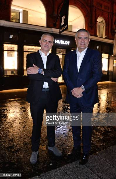 Jose Mourinho and Hublot CEO Ricardo Guadalupe launch the Big Bang 'The Special One' Limited Edition Hublot Watch at Hublot New Bond Street Boutique...