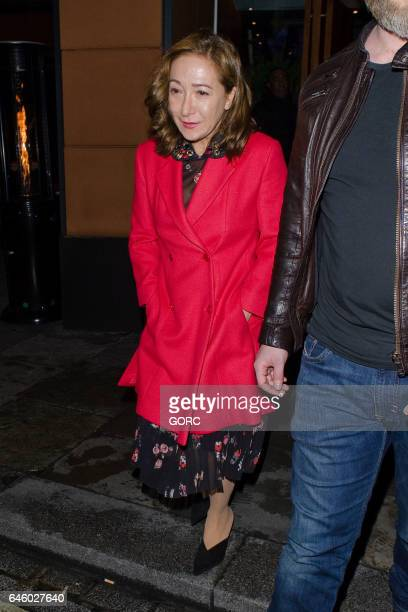 Jose Mourinho at Zuma restaurant with wife Matilde and son Jose Jnr on February 27 2017 in London England