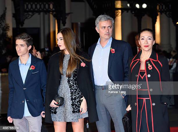 Jose Mourinho attends the World Premiere of The Hunger Games Mockingjay Part 1 at Odeon Leicester Square on November 10 2014 in London England