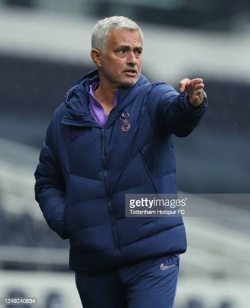 Jose Mourinho, Head Coach of Tottenham Hotspur during the friendly practice match between Tottenham Hotspur and Norwich City at Tottenham Hotspur...