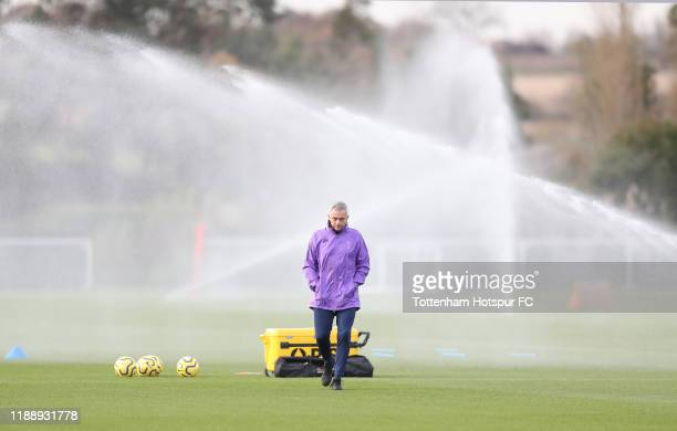 Jose Mourinho Head Coach of Tottenham Hotspur during the Tottenham Hotspur training session at Tottenham Hotspur Training Centre on November 20 2019...