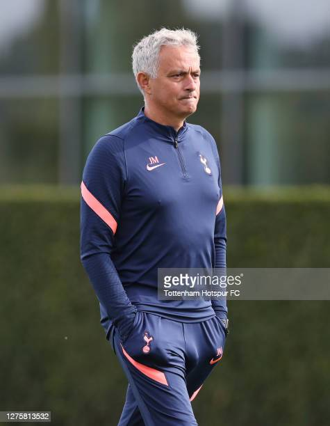 Jose Mourinho, Head Coach of Tottenham Hotspur during the Tottenham Hotspur training session at Tottenham Hotspur Training Centre on September 23,...