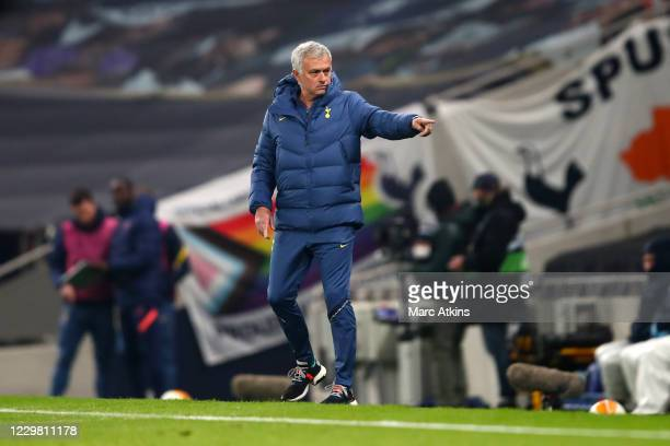 Jose Mourinho head coach/manager of Tottenham Hotspur during the UEFA Europa League Group J stage match between Tottenham Hotspur and PFC Ludogorets...