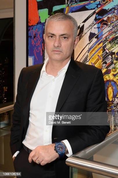 Jose Mourinho launches the Big Bang 'The Special One' Limited Edition Hublot Watch at Hublot New Bond Street Boutique on November 28 2018 in London...