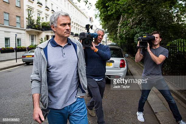 Jose Mourinho leaves his home on May 22 2016 in London England Mourinho is rumoured to be in line to replace Louis van Gaal as manager of Manchester...