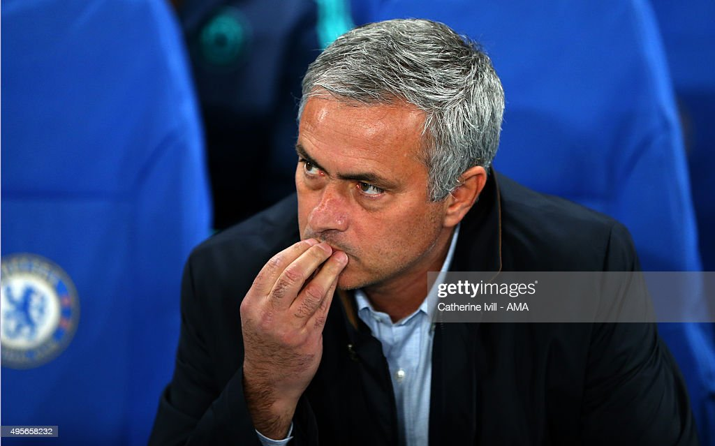 Jose Mourinho Manager of Chelsea before the UEFA Champions League Group G match between Chelsea and Dynamo Kyiv at Stamford Bridge on November 4, 2015 in London, United Kingdom.