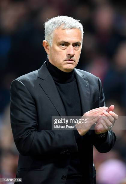 Jose Mourinho Manager of Manchester United applauds fans after the Group H match of the UEFA Champions League between Manchester United and Juventus...