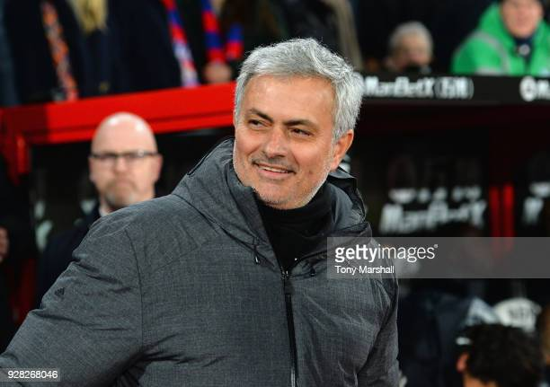 Jose Mourinho Manager of Manchester United during the Premier League match between Crystal Palace and Manchester United at Selhurst Park on March 5...