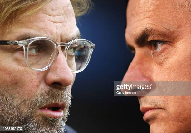 COMPOSITE OF IMAGES Image numbers 8844210161065476010 GRADIENT ADDED In this composite image a comparison has been made between Jurgen Klopp Manager...