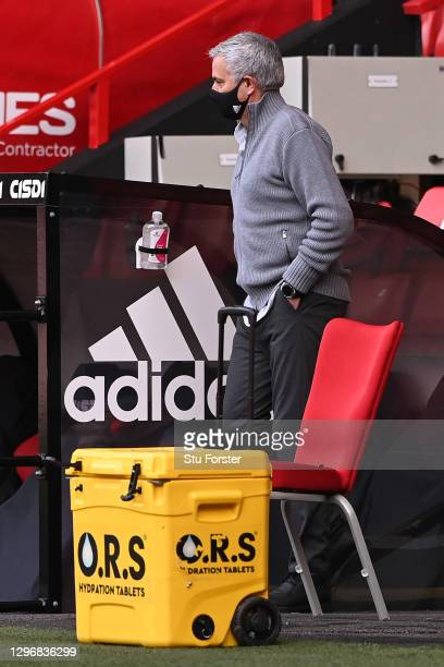Jose Mourinho, Manager of Tottenham Hotspur arrives at the stadium prior to the Premier League match between Sheffield United and Tottenham Hotspur...