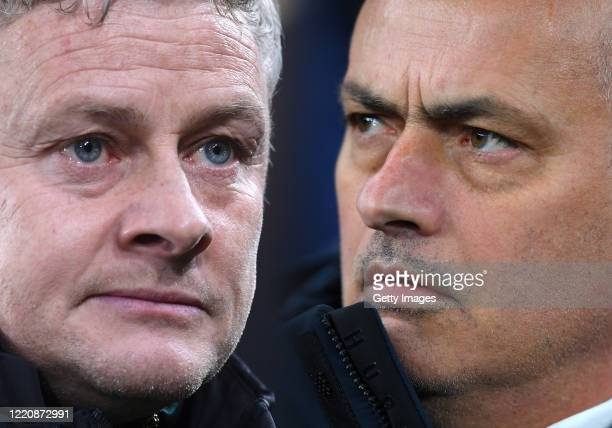 Jose Mourinho, Manager of Tottenham Hotspur looks on ahead of the UEFA Champions League round of 16 first leg match between Tottenham Hotspur and RB...