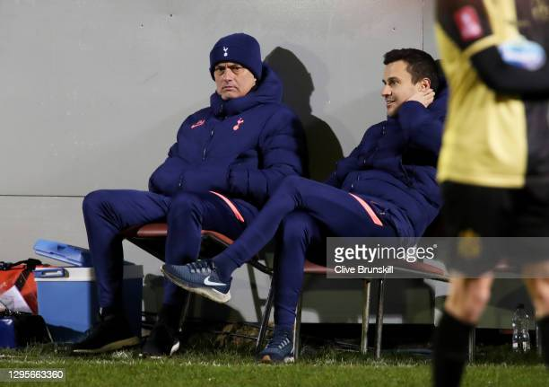 Jose Mourinho, Manager of Tottenham Hotspur looks on during the FA Cup Third Round match between Marine and Tottenham Hotspur at Rossett Park on...