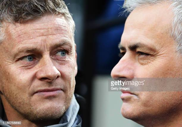 COMPOSITE OF IMAGES Image numbers 11788008021189532555 GRADIENT ADDED In this composite image a comparison has been made between Ole Gunnar Solskjaer...